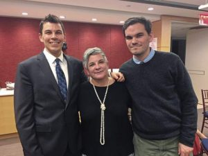 Paula Kelly with sons Josh and Patrick